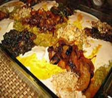 Iranian food , halim bademjan
