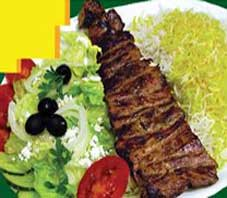 Iranian food , kabab barg