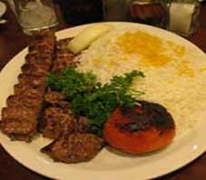 Iranian food , kabab chenjeh