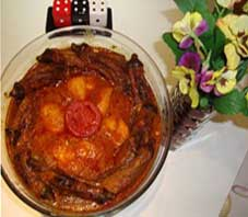 Iranian food , khoresht bademjan